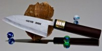 Moritaka AS Damaskus Kodeba 110mm - Интернет-магазин японских ножей MORITAKA